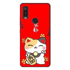 Ốp lưng điện thoại VSmart Active 1 hình Mèo May Mắn Mẫu 3 - Hàng chính hãng