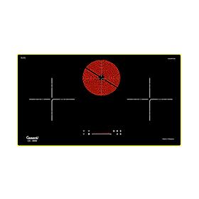 Bếp điện từ hồng ngoại 03 lò nấu CANAVAL CA-9999 Inverter Bo mạch Italia Chíp SIMENS Mâm điện E.G.O 02 vòng nhiệt Mặt kính Schott Ceran (5500W) Malaysia - Hàng nhập khẩu