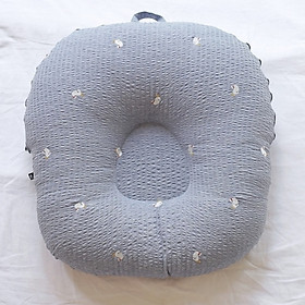 Gối chống trào ngược cho bé Rototo Bebe chất liệu đặc biệt Ripple gợn sóng - Ghi cá voi