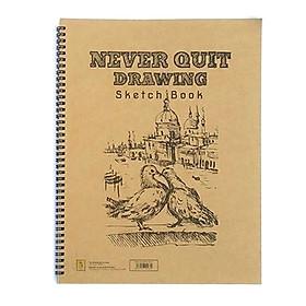 Tập Vẽ Cao Cấp Never Quit Drawing (26x36cm) - Mẫu 2