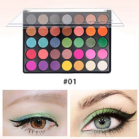 35-color Fashion Glitter Matte Eye Shadow Long-lasting Waterproof Smudge-proof Colorful Eyeshadow Palette