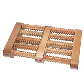 Bàn lăn gỗ massage chân 5 hàng
