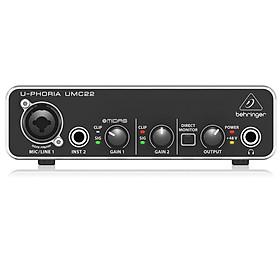 Soundcard thu âm Behringer U-Phoria UMC22 -USB Audio Interface-Hàng Chính Hãng