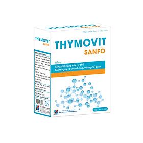 Thymovit Sanfo - Tăng sức đề kháng, tăng khả năng phòng bệnh, giảm viêm họng, viêm phế quản