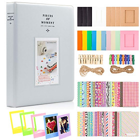 Photo Paper Film Album Set for Fujifilm Instax Mini Camera, Polaroid Snap, Z2300, SocialMatic Instant Cameras & Zip Instant Printer