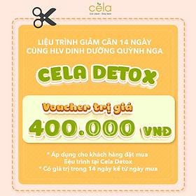 Voucher liệu trình giảm cân liệu trình 14 ngày  áp dụng trên chuỗi nhà hàng Celadetox  an toàn, không mệt mỏi được thiết kế bởi huấn luyện viên dinh dưỡng theo phương pháp eatclean