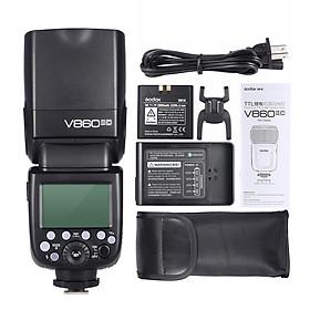 Đèn Flash Chiếu Sáng Không Dây Godox V860II-C E-TTL HSS Với Pin Li-ion Cho Canon 1DX/5D Mark III/5D Mark II/6D/7D/60D/50D/40D/30D/650D/6 (1/8000s 2000mAh GN60 2.4G)