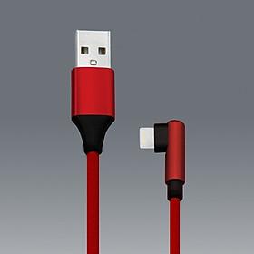 Cáp Sạc Lightning NK3 Dây dù Cho iPhone Cổng Kết Nối Chữ L 90 Độ - Giao màu ngẫu nhiên