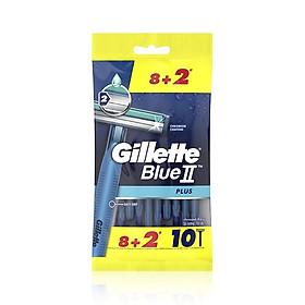 Vỉ 10 Dao Cạo Gillette Blue II (Mua 8 Tặng 2)