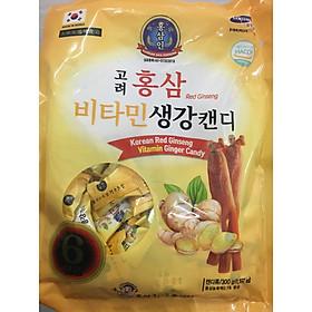 Kẹo Gừng Hồng sâm Korea Red Gingsen Hàn Quốc (Gói 300g)