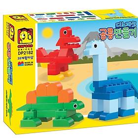 Đồ chơi lắp ráp - Chính Hãng Hàn Quốc - Công Viên Khủng Long Oxford DP2182 - bao gồm 51 mảnh ghép nhựa ABS cao cấp - dành cho trẻ em từ 3 tuổi trở lên