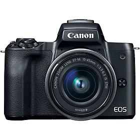 Máy Ảnh Canon M50 Kit 15-45mm IS STM (Hàng Nhập Khẩu) - Tặng Thẻ 16GB + Túi Máy + Tấm Dán LCD