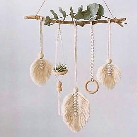 Dây treo tường dây treo cây không khí dây lá Macramé trang trí
