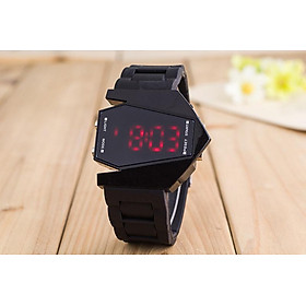 Men's Aircraft Shape LED Watch Multicolor Silicone Electronic Quartz Decoration Watch Holiday Gift