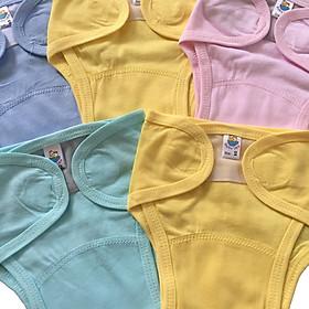 Combo 5 tả vải, tả dán cotton mềm, mịn cho bé sơ sinh Thái Hà Thịnh ( tặng kèm 1 đôi tất sơ sinh amigo như hình)-1