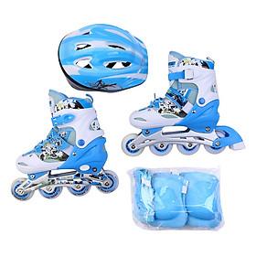 Giày trượt patin cao cấp tặng kèm bộ bảo vệ chân tay và mũ bảo hiểm