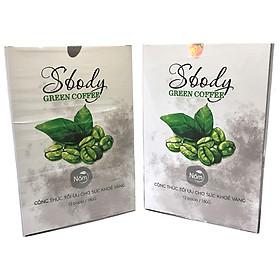 (2 Hộp) Nấm Hỗ trợ Giảm Cân Sbody Green Coffee - Giảm thèm ăn không gây hại cho Sức Khoẻ - Tinh chất Cafe Xanh giàu chất chống Oxy Hoá - Hộp 12 gói / 180G