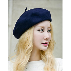 Mũ nồi dạ beret nữ  phong cách thời trang
