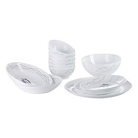 Bộ Bàn Ăn Thủy Tinh Luminarc Diwali Marble 12 Món LRI12