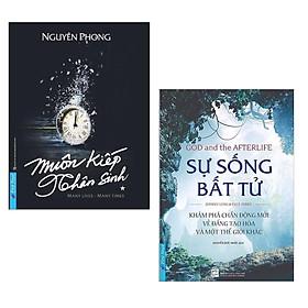 Combo Sách Tâm Linh Best-Seller: Muôn Kiếp Nhân Sinh + Sự Sống Bất Tử (Luật Luân hồi và Nhân quả tạo nhân duyên để người này gặp người kia)