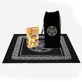 Combo Bộ Bài Bói Tarot Mucha Card Deck Cao Cấp và Túi Nhung Đựng Tarot và Khăn Trải Bàn Tarot