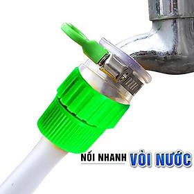 Đầu cút nối nhanh cho vòi nước ra dây ống nước mềm từ 14 hoặc 20mm dùng tưới cây hay rửa xe MIHOCO