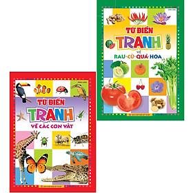 sách : Từ điển tranh về con vật và rau củ quà ( Bìa Cứng)