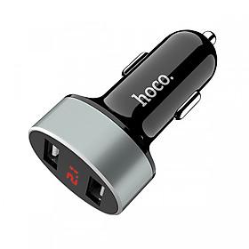 Tẩu Sạc Ô Tô  Hoco Z26 2 Cổng USB - Hàng Chính Hãng