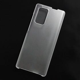 Ốp lưng dành cho LG Wing nhựa cứng nhám trong