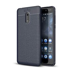 Ốp lưng Silicon Auto Focus giả da, chống sốc dành cho Nokia 6 - Hàng Chính Hãng