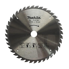 Lưỡi cắt gỗ Makita 185mm 40 răng P-67957 - Hàng Chính Hãng