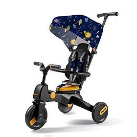 Xe đẩy trẻ em 3 bánh kiêm xe đạp 6in1, gấp gọn, dành cho bé từ 1 - 5 tuổi