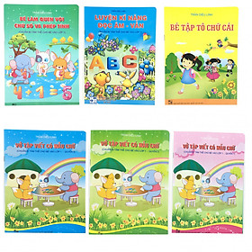 Combo 6 cuốn Chuẩn bị cho bé vào lớp 1 (tặng kèm 1 bút chì và 1 gọt pikachu siêu đáng yêu)