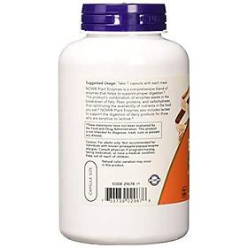 Viên Uống Now Plant Enzymes Với Lactase, Protease, Papain & Bromelain (240 Viên Nang Thực Vật)