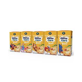 Thùng sữa uống dinh dưỡng vị chua Nutricare Metacare Yoyo (Hương Đào)- tinh anh cao lớn hơn (110ml x 48 hộp)