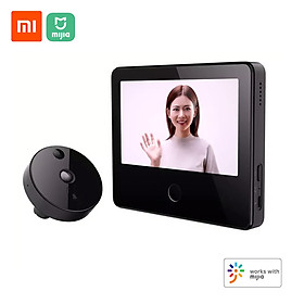 Xiaomi Mijia Smart Camera Doorbell Cat Eye Infrared Night Vision AI Human Detection Wireless Monitor WiFi H.265 Cam Work