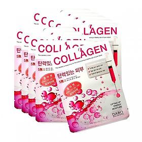 Combo 10 Miếng Mặt Nạ Hàn Quốc Dabo Collagen ngăn ngừa và chống lão hóa cho da (23g / Gói) - Hàng Chính Hãng