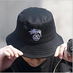 Nón Mũ Bucket Nam Nữ màu đen Freesize Trùm Unisex