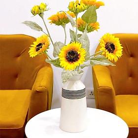Lọ hoa gốm sứ cao cấp - Vẽ hoa- Men mát - Gốm sứ Bát Tràng - Trang trí căn nhà