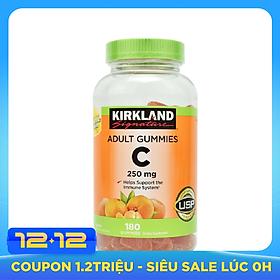 Kẹo dẻo bổ sung Vitamin C Kirkland Adult Gummies C 250mg hộp 180 viên của Mỹ