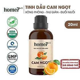 Tinh dầu thiên nhiên Cam Ngọt Homer - Dung tích 20ml / 100ml - Đạt chuẩn kiểm định cao cấp - An toàn cho sức khỏe - Đa công dụng