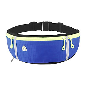 Water-repellent Running Waist Bag with Water Bottle Holder Ultralight Adjustable Waist Belt Pack with Headphone Hole for