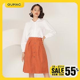 Chân váy nữ GUMAC thiết kế  đai rời mắt cáo VA966