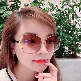 Mắt kính nữ kính mát thời trang táo 2 sóng MS 15