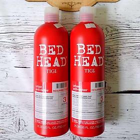 TIGI Bộ dầu gội và dầu xả phục hồi tóc hư tổn Bed Head 750ml
