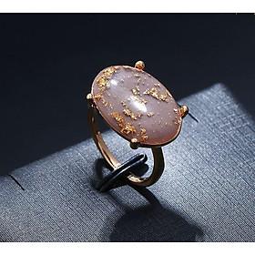 Nhẫn tay Allwell ngọc lục nâu