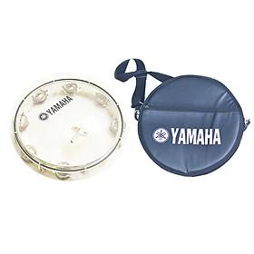 Trống Lắc Tay - Lục Lạc Gõ Bo Tambourine Yamaha MT6-102T - Trắng trong + Tặng bao da 3 lớp