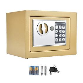 Két sắt mini khoá điện tử vàng đồng