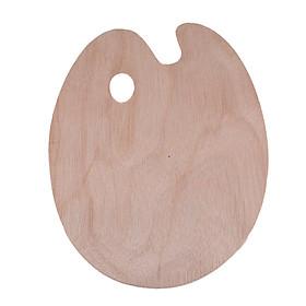 Khay pha màu, bảng pha, pallete bằng gỗ, dụng cụ phối trộn phù hợp với màu nước, acrylic, gouache