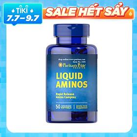 Thực Phẩm Chức Năng - Viên Uống Kích Thích Ăn Ngon, Hỗ Trợ Tăng Cơ, Tăng Cân Liquid Aminos (50 Viên)